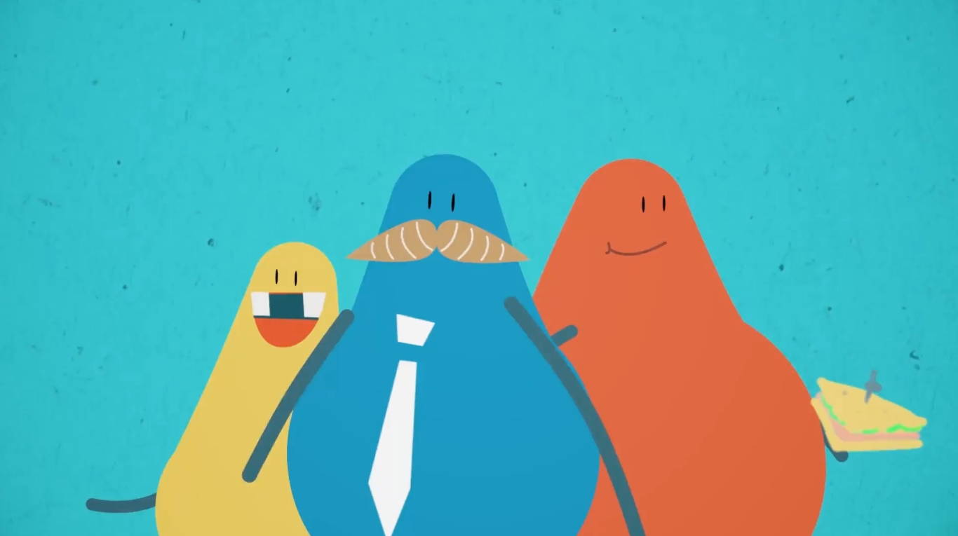 Colourful animated characters